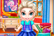game Baby Elsa School Prep