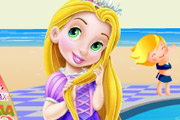 game Baby Rapunzel Pool Party