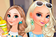 game Elsa And Anna Go Shopping