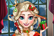 game Elsa Christmas Real Haircuts