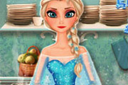 game Elsa Cooking Apple Pie