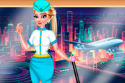 game Elsa Stewardess Fashion