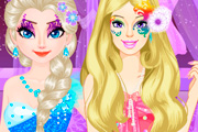 game Elsa vs Barbie Make Up Contest