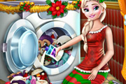 game Elsa Washing Christmas Toys