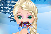 game Frozen Elsa Throat Care