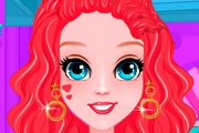 game Mermaid Princess Short Hair Braids