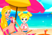 game Mom And Daughter At The Beach