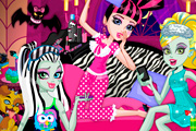 game Monster Slumber Party Funny Faces