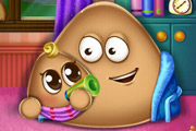 game Pou Has a Baby