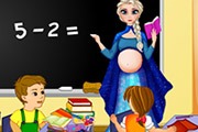game Pregnant Elsa School Teacher