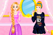 game Rapunzel vs Cinderella Fashion Show
